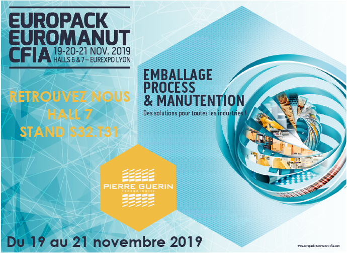 PIERRE GUERIN AT THE EUROPACK EUROMANUT CFIA SHOW IN LYON